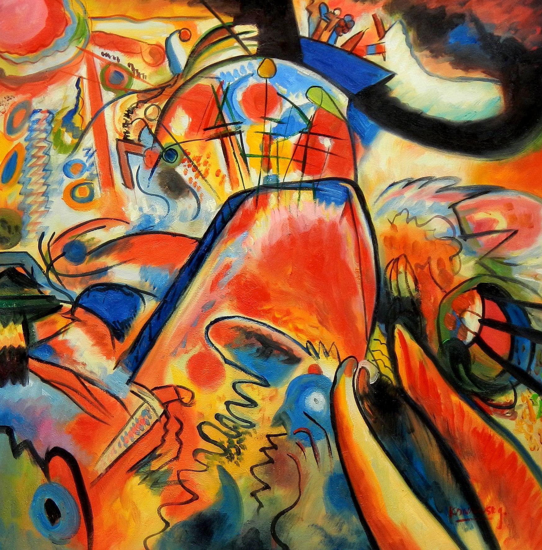 Wassily Kandinsky - Kleine Freuden g95881 80x80cm exquisites Gemälde