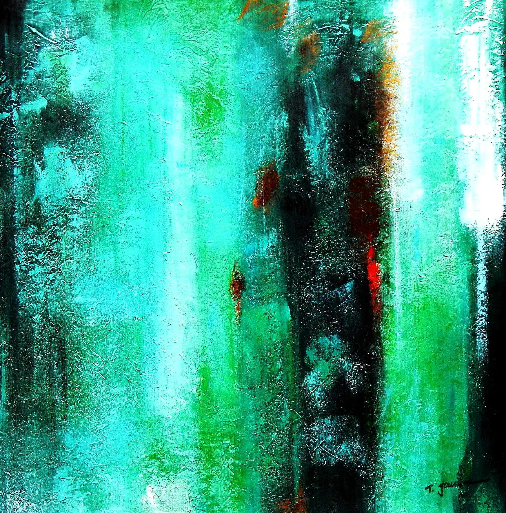 Abstract - Ireland Summer games g95886 80x80cm abstraktes Gemälde