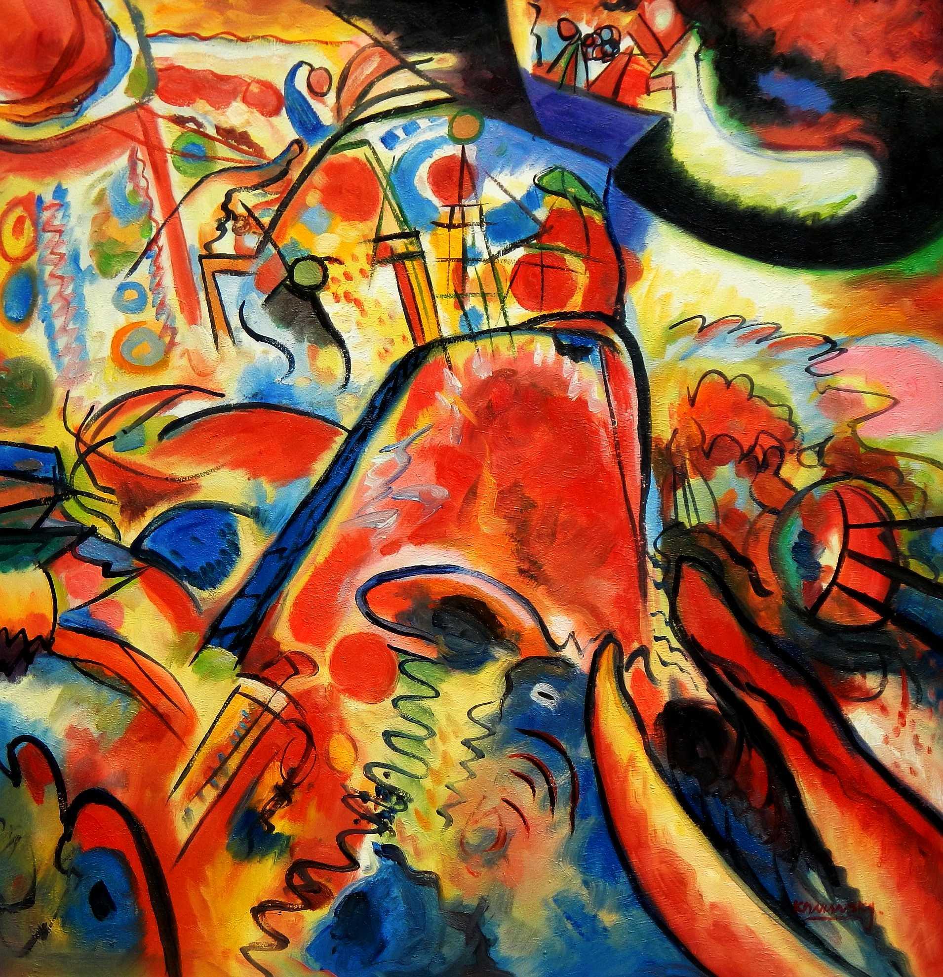 Wassily Kandinsky - Kleine Freuden h95895 90x90cm exquisites Gemälde