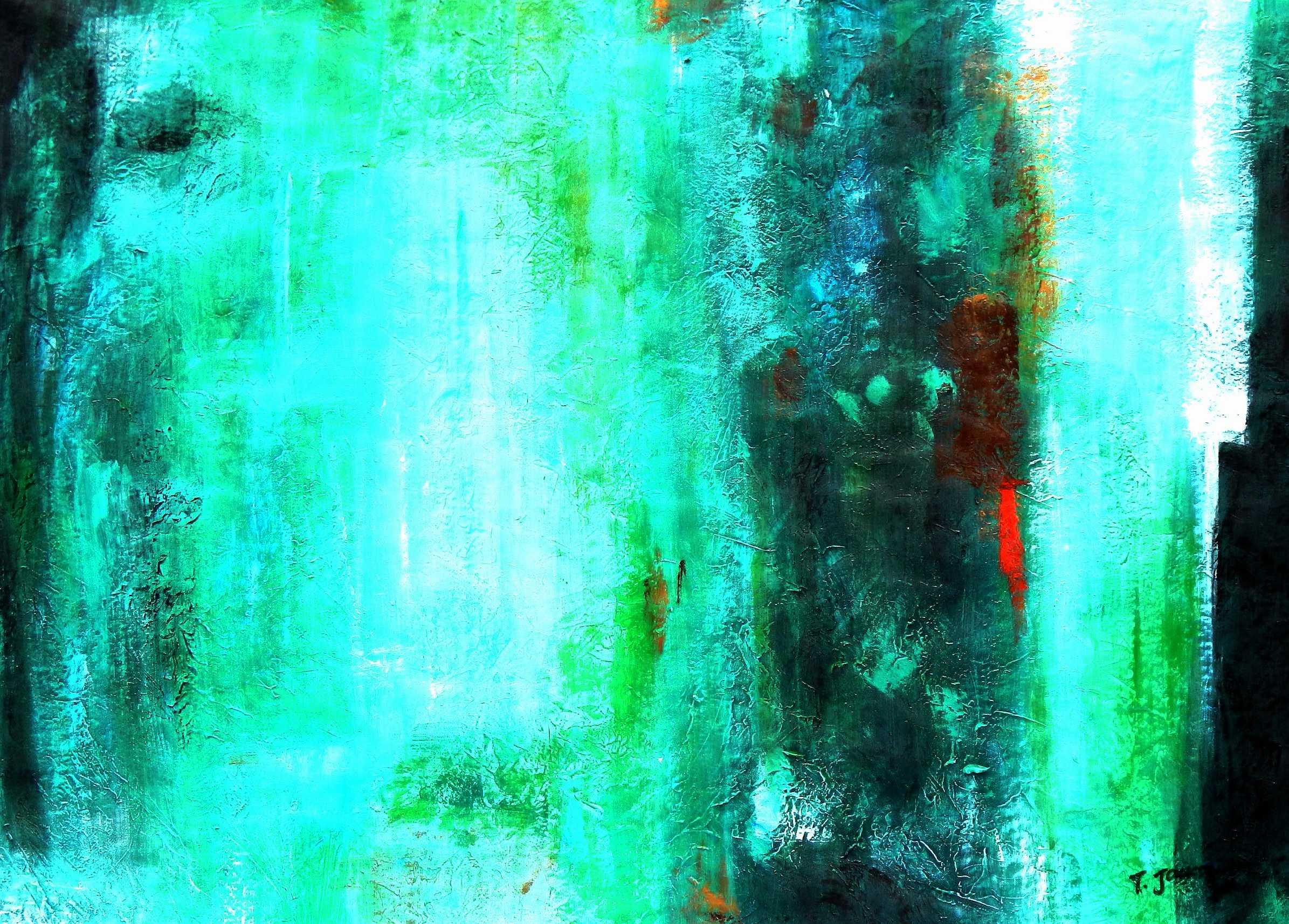 Abstract - Ireland Summer games i95916 80x110cm abstraktes Gemälde