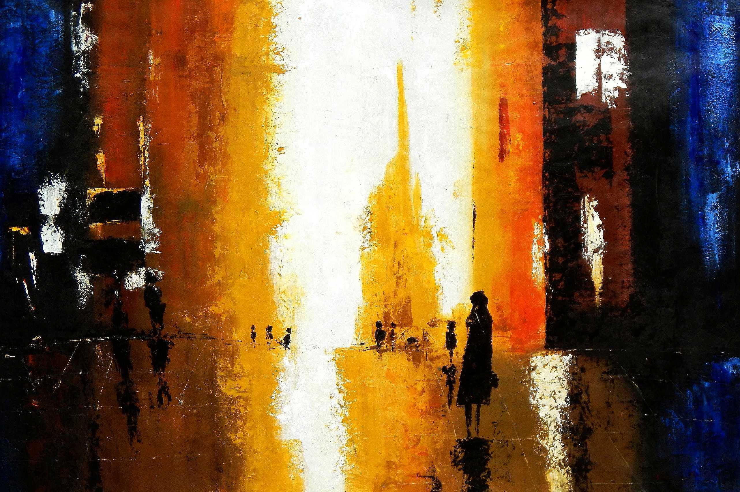 Abstrakt - Berlin Galeries Lafayette p95976 120x180cm abstraktes Ölbild handgemalt