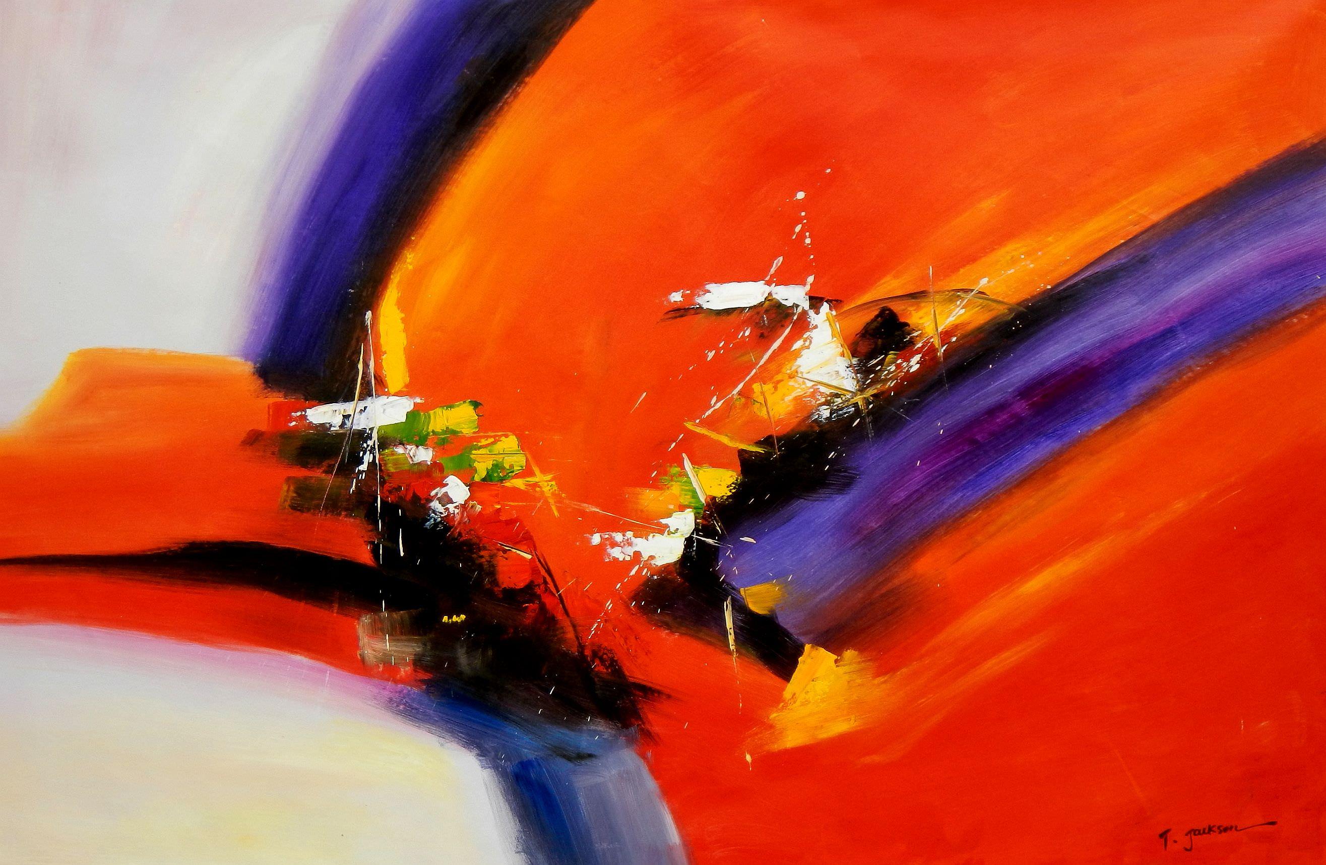 Abstract - Impact study p95980 120x180cm abstraktes Ölgemälde