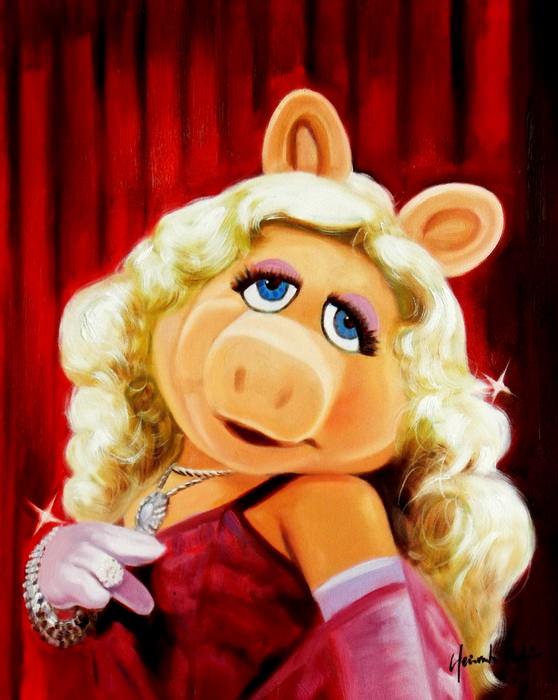 Pop Art - Muppets Miss Piggy b89311 40x50cm exquisites Ölgemälde