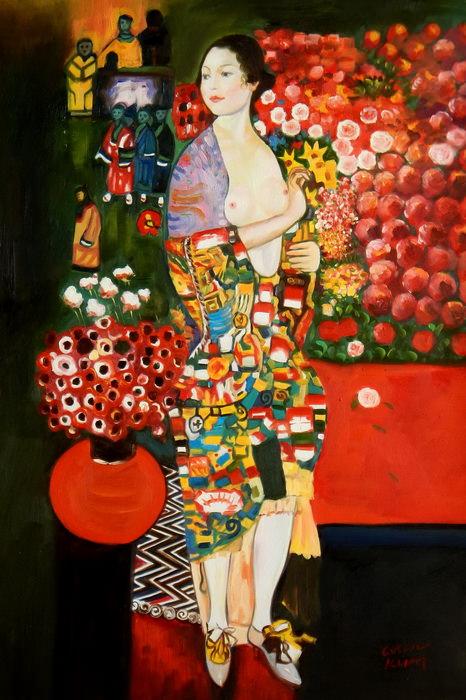 Gustav Klimt - Die Tänzerin d89454 60x90cm handgemaltes Ölgemälde