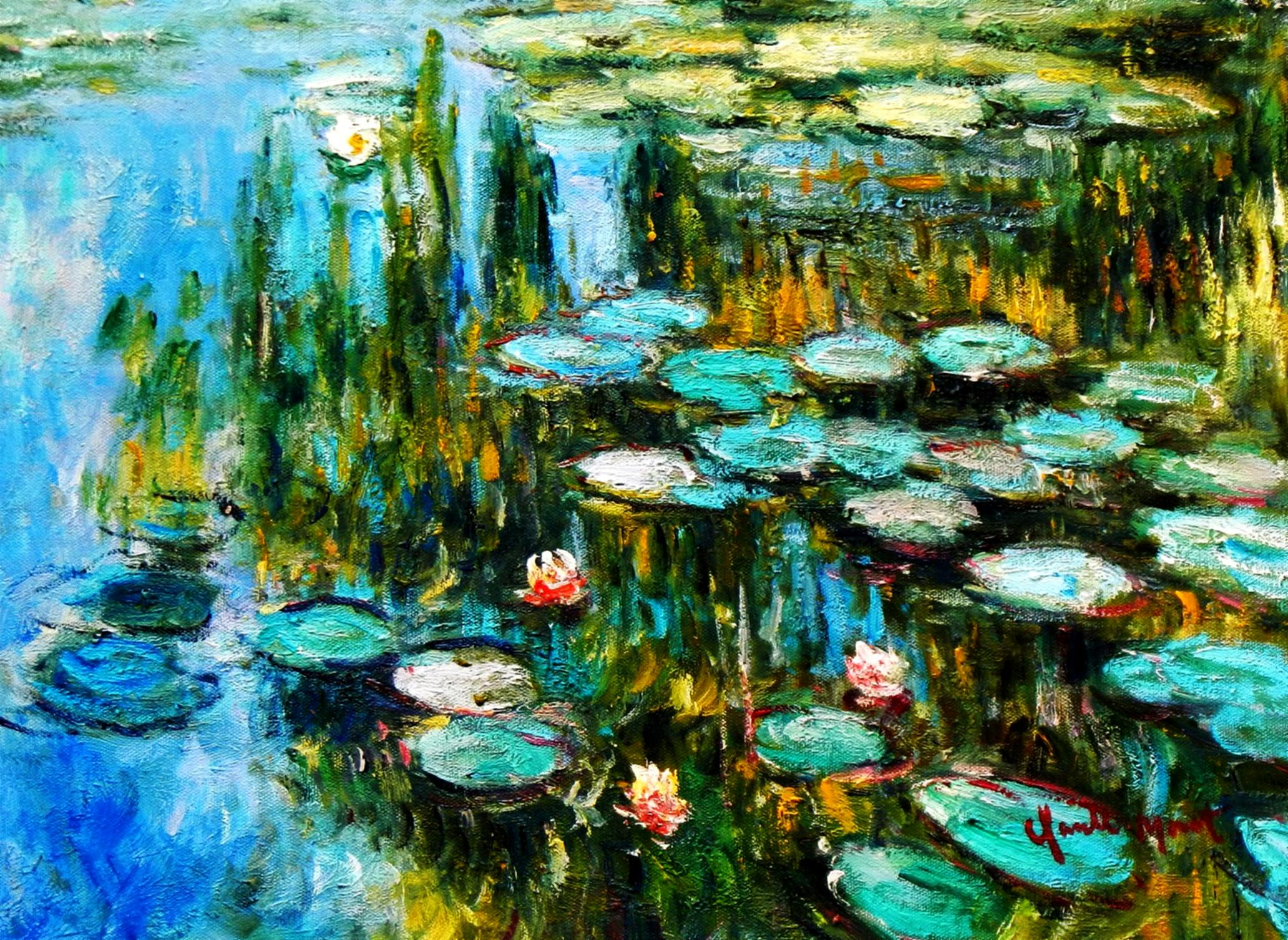 Claude Monet - Seerosen im Frühling a94153 30x40cm Ölgemälde handgemalt