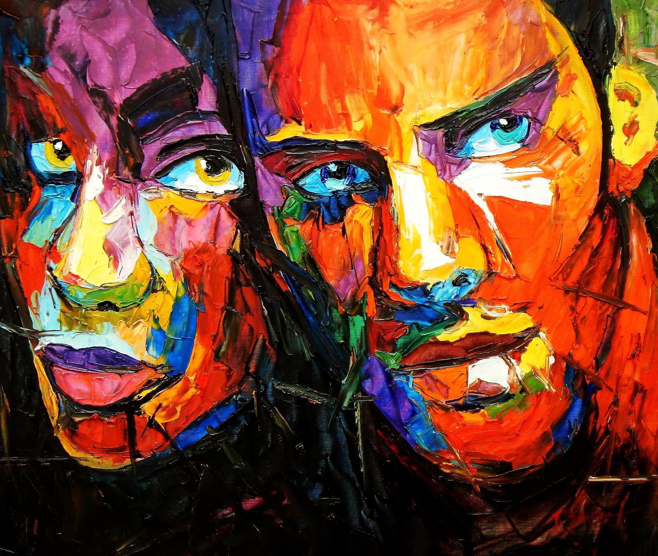 Modern Art - Die Geborgenheit c94214 50x60cm beeindruckendes Ölbild