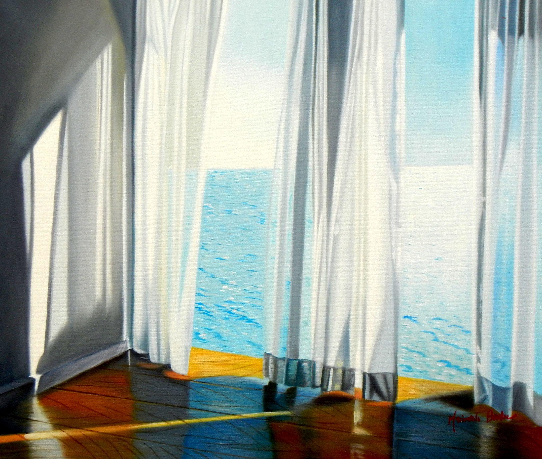Modern Art - Sommerbrise am Meer c94224 50x60cm brilliantes Ölgemälde handgemalt