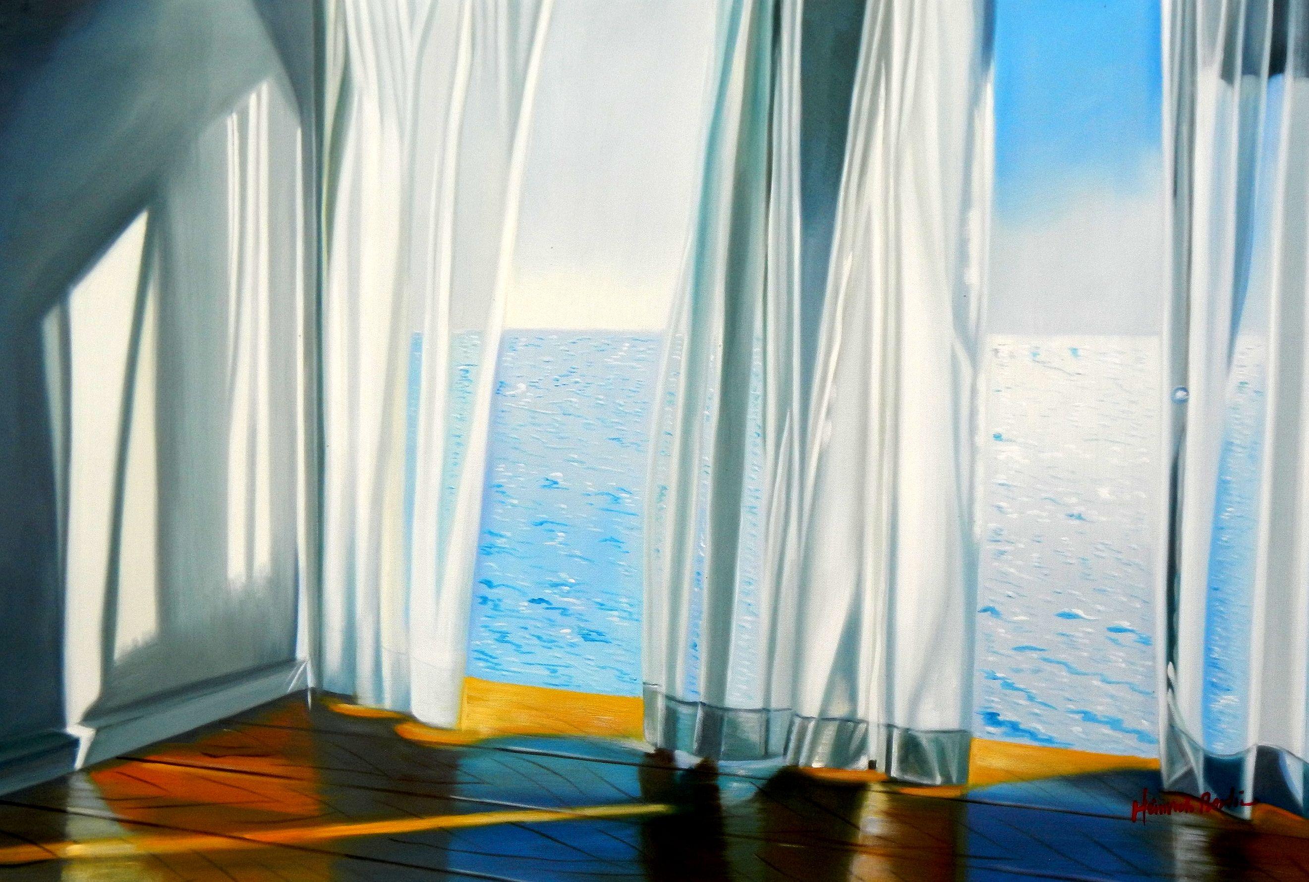 Modern Art - Sommerbrise am Meer d94289 60x90cm brilliantes Ölgemälde handgemalt