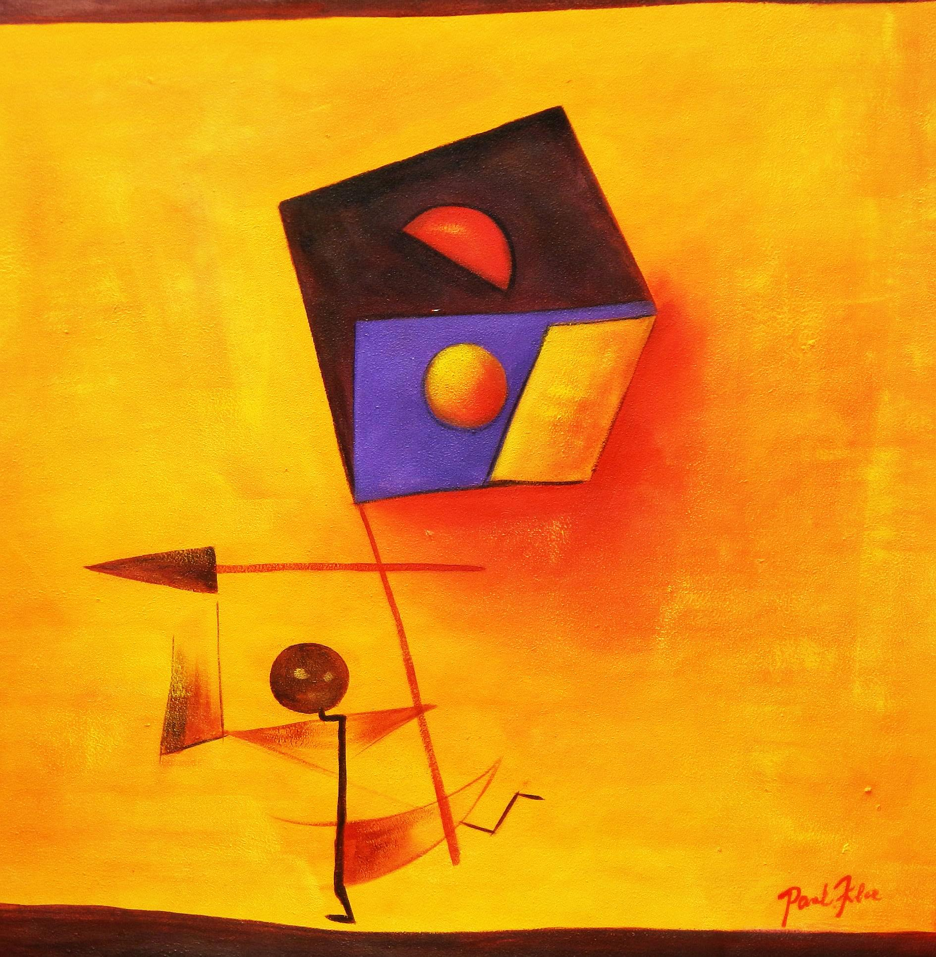 Paul Klee - Conqueror g94389 80x80cm exquisites Ölgemälde