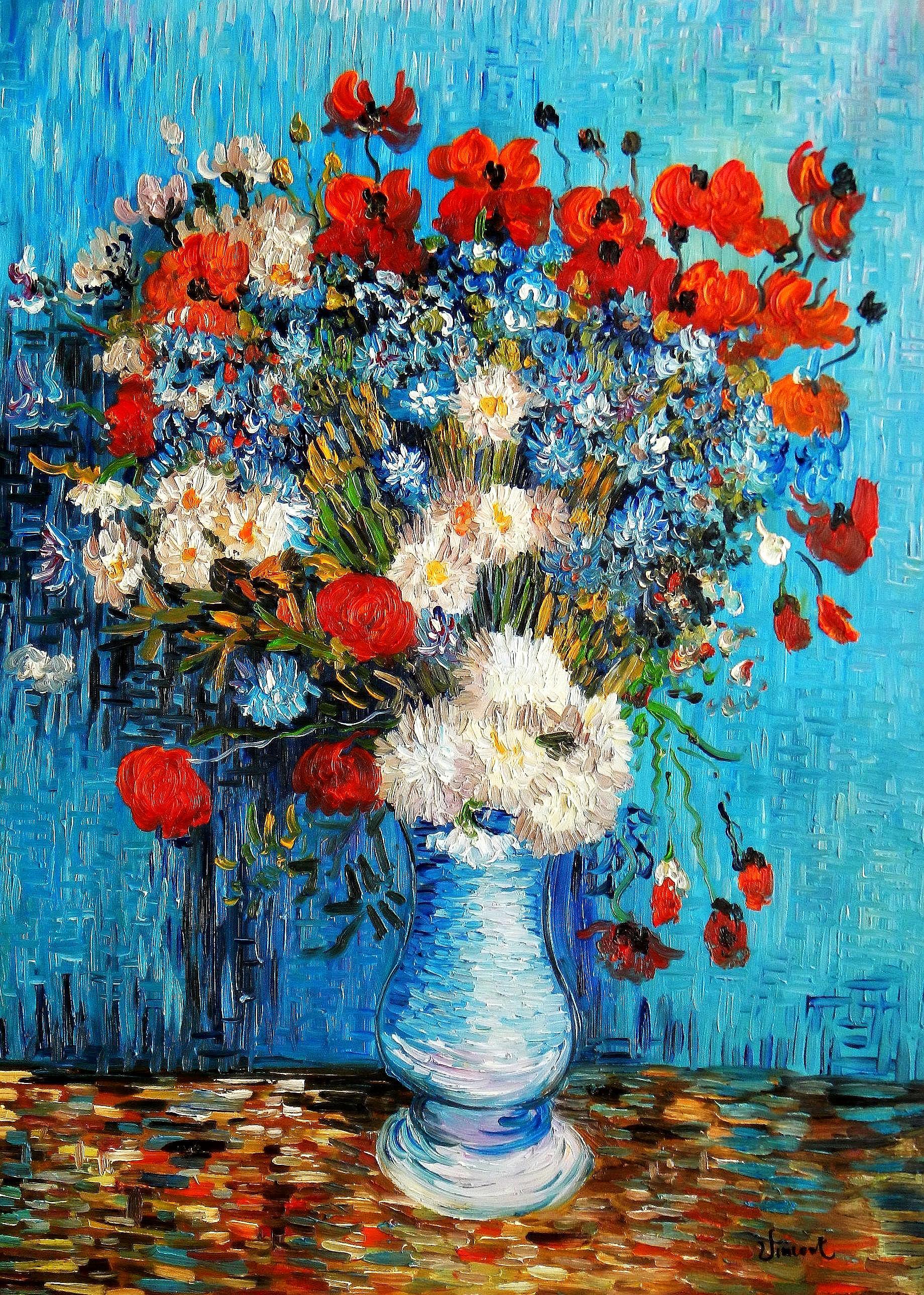 Vincent van Gogh - Vase mit Kornblumen und Mohnblumen i94417 ...