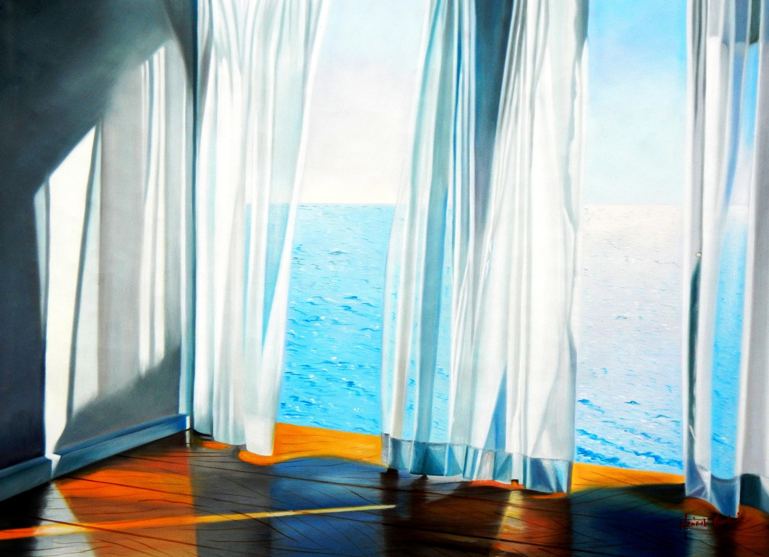 Modern Art - Sommerbrise am Meer i94437 80x110cm brilliantes Ölgemälde handgemalt