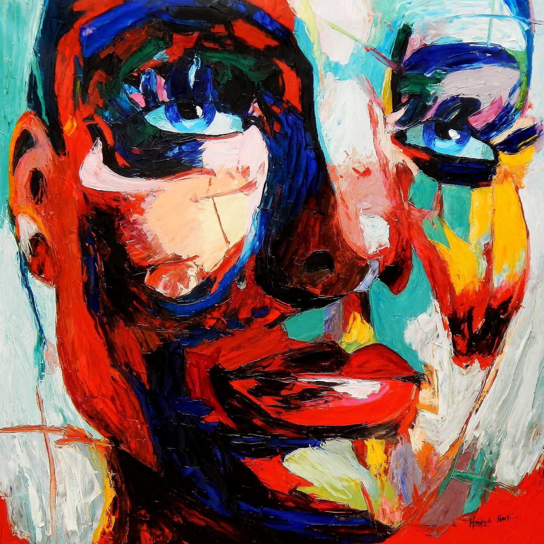 Modern Art - Die Zufriedenheit m94479 120x120cm exquisites Ölgemälde