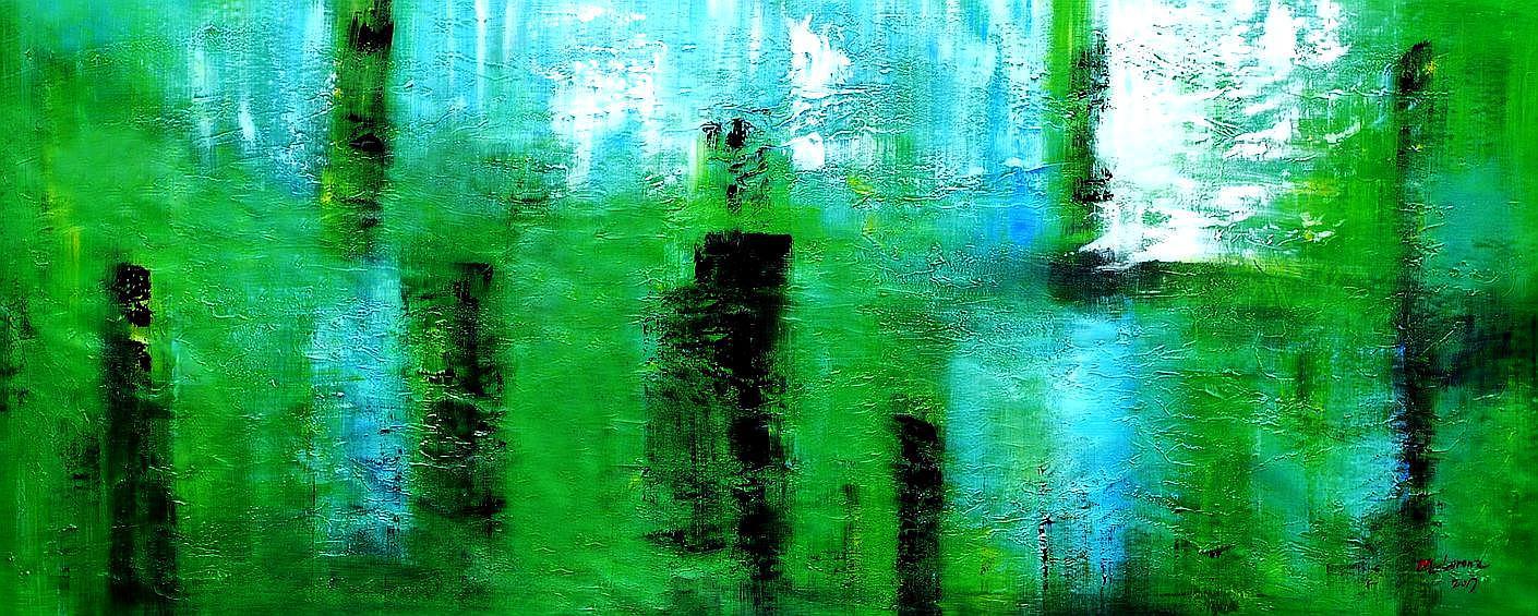 Abstract - Ireland Summer games t94486 75x180cm abstraktes Gemälde