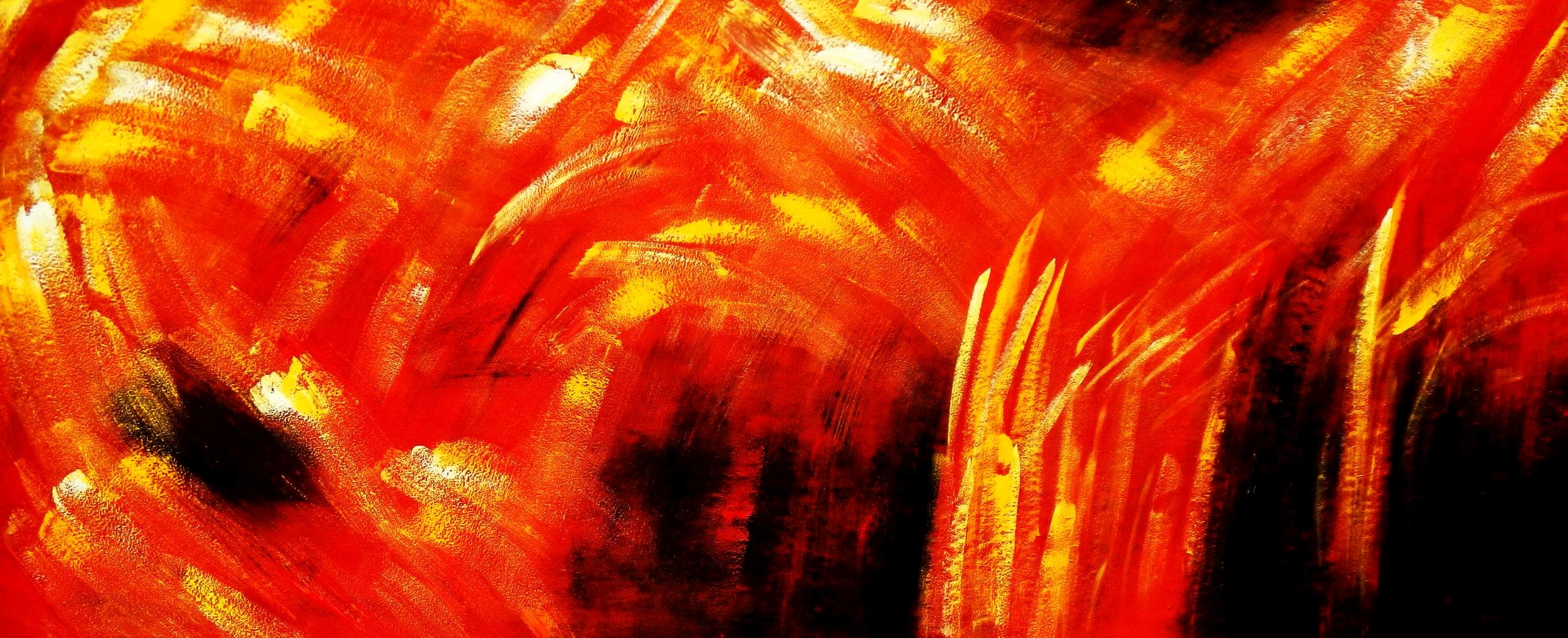Abstrakt - Der Funkenflug t94491 75x180cm abstraktes Ölbid handgemalt