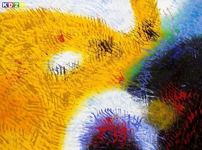 Abstrakt - Berlin Potsdamer Platz i88223 G 80x110cm abstraktes Ölbild handgemalt